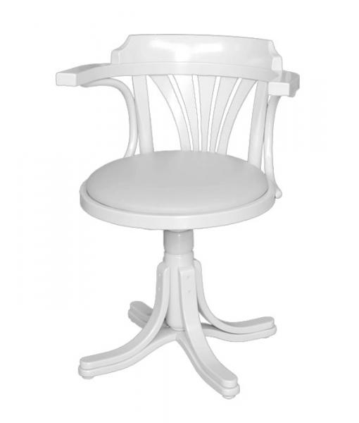fauteuil tournant, fauteuil de bureau blanc
