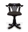 fauteuil tournant, fauteuil noir, fauteuil sans roulettes