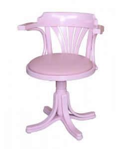 Fauteuil tournant, fauteuil rose