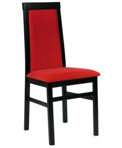 chaise de repas, chaise tissu rouge