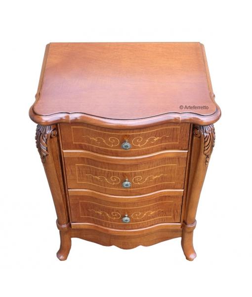 table de chevet, table de nuit, chevet en bois