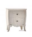 table de chevet, chevet, bout de lit, chambre adulte, mobilier classique de chambre, chevet blanc laqué