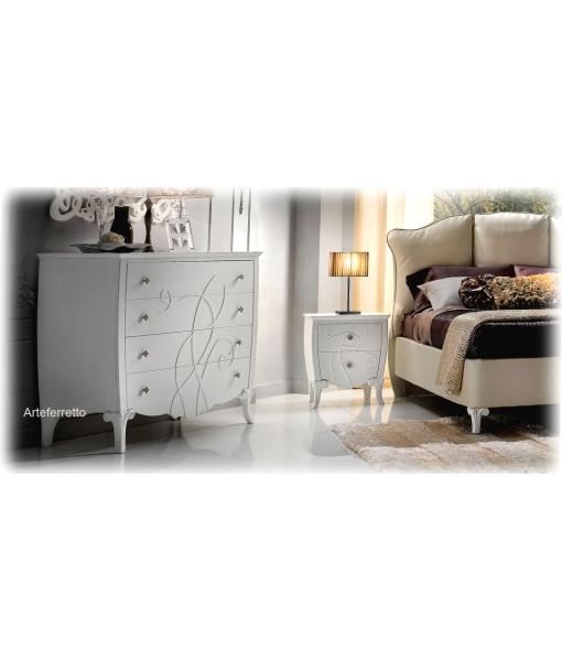 table de chevet chevet bout de lit chambre adulte mobilier classique de