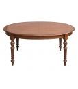 Table ovale 160 cm extensible, table avec rallonge, table ovale salle à manger