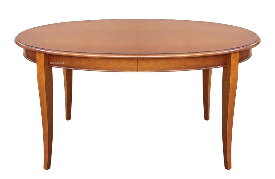 table ovale 160 cm extensible lamaisonplus. Black Bedroom Furniture Sets. Home Design Ideas