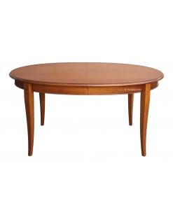 table ovale 160 cm, table à rallonge, table classique