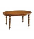 Table ovale extensible, table avec rallonge, table ovale salle à manger