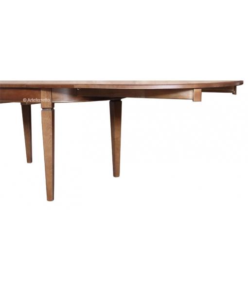 Table ovale rallonge 160 cm lamaisonplus - Table ovale rallonge ...