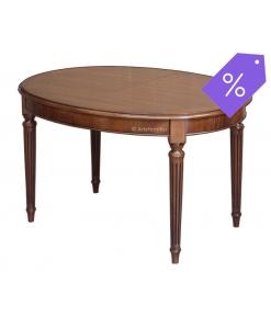 PROMO ! Table ovale Style Louis XVI finition merisier réf. FV-39B