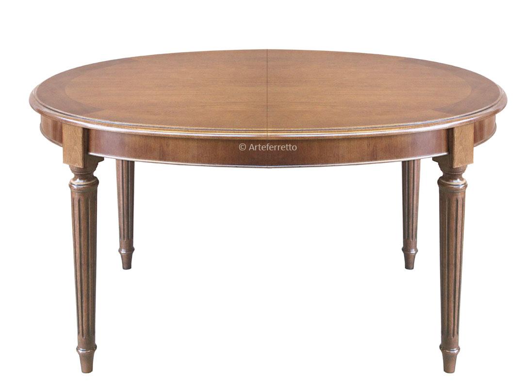 Table ovale style louis xvi avec allonges lamaisonplus - Table contemporaine avec rallonge ...