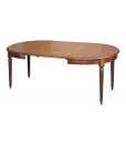 Table ovale Style Louis XVI avec allonges 130-210 cm