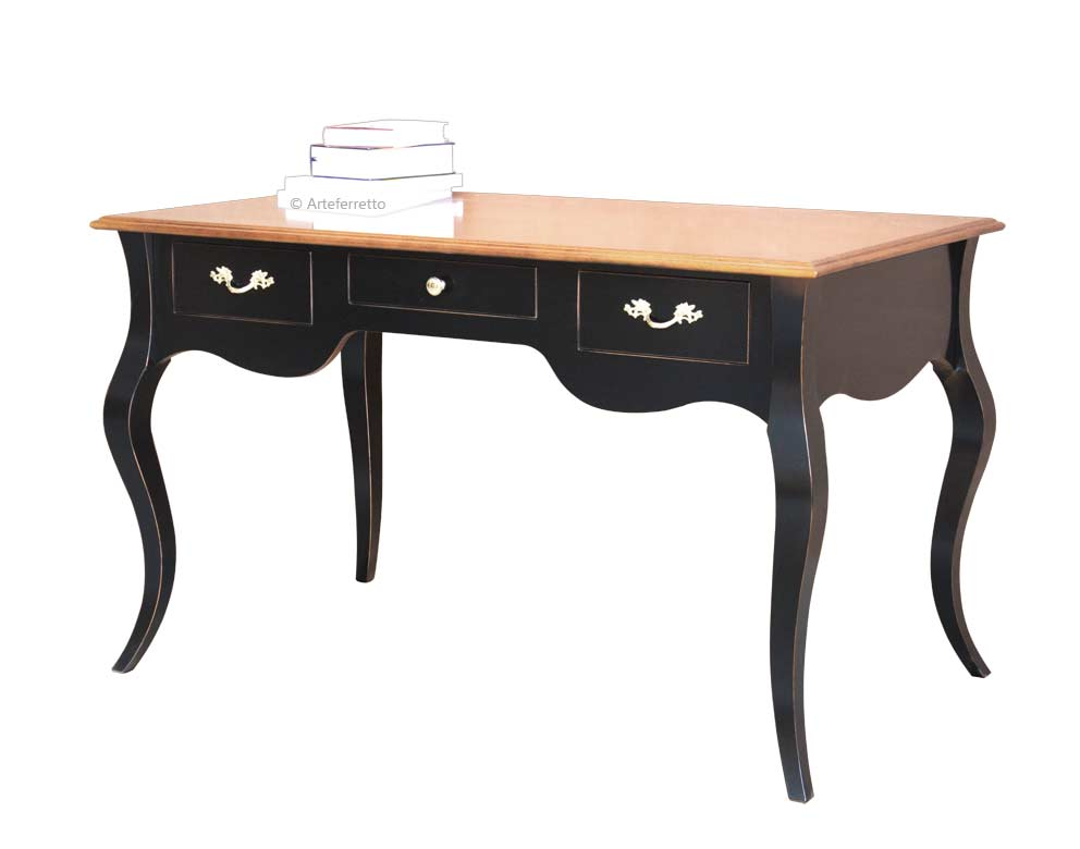 bureau de style largeur 130 cm lamaisonplus. Black Bedroom Furniture Sets. Home Design Ideas