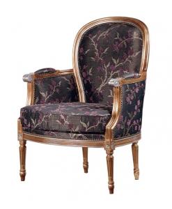 Fauteuil classique, fauteuil de salon, fauteuil élégant