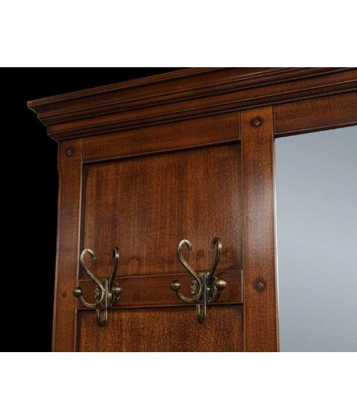 Vestiaire meuble d 39 entr e classique en bois lamaisonplus for Largeur porte classique