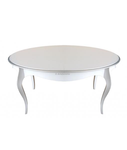 table à manger ovale avec allonge, table à manger, table en bois, Réf. G703