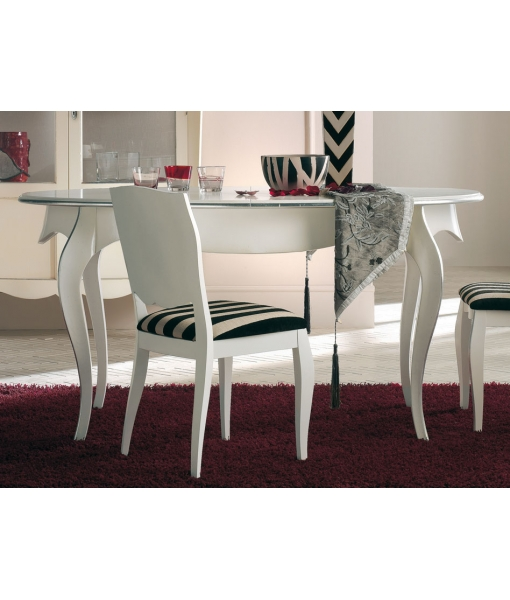 table à manger ovale avec allonge, table à manger, table en bois