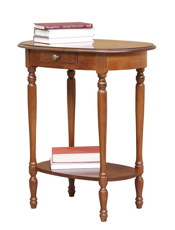 Petite table ovale avec tiroir lamaisonplus for Petite table de cuisine avec tiroir