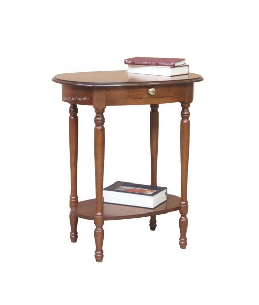 Petite table ovale avec tiroir