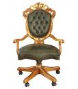fauteuil tournant de bureau, fauteuil en cuir véritable, fauteuil de travail confort