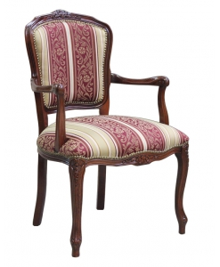 Fauteuil Louis XV classique, fauteuil de style parisien, fauteuil classique