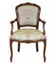 Fauteuil Parisienne, fauteuil rembourré en bois