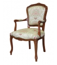 Fauteuil Parisienne, fauteuil en bois de style classique