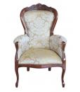 fauteuil classiquem fauteuil en bois, fauteuil de salon