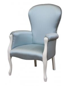 Fauteuil Louis Philippe, fauteuil classique, fauteuil bleu