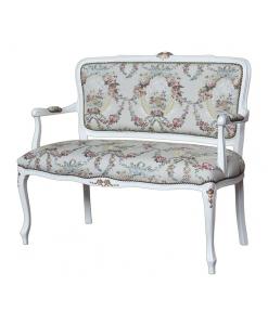 Petit canapé Louis XV 2 places, canapé deux places, canapé salon, canapé shabby chic