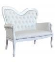 canapé, canapé blanc, canapé deux places, canapé shabby chic