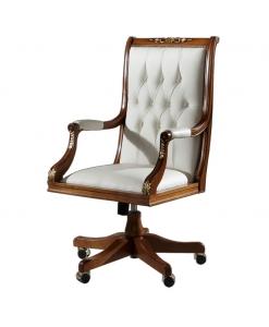 fauteuil tournant, fauteuil en bois, fauteuil por le salon, fauteuil tournant pour le bureau