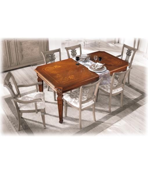 Table de salle manger lux cm 180 260 lamaisonplus for Table de salle a manger luxe