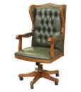 Fauteuil présidentiel, fauteuil bureau de prestige, fauteuil en cuir vèritable