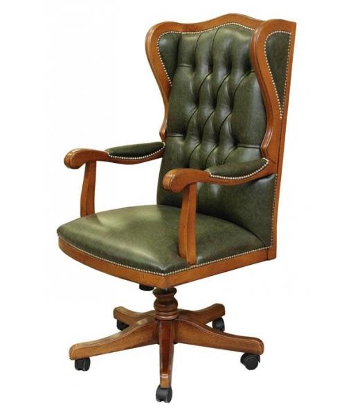 Fauteuil présidentiel, cuir véritable, mobilier bureau