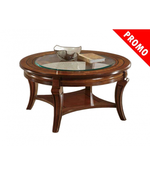 PROMO ! Table ronde de salon avec cristal