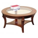 Table ronde de salon, table basse de salon en bois