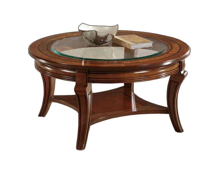 Table ronde de salon avec cristal lamaisonplus - Table ronde salon ...