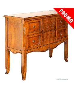 console en bois, meuble console, promotion meubles, console avec 2 tiroirs