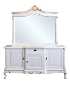 Ensemble buffet classique et miroir