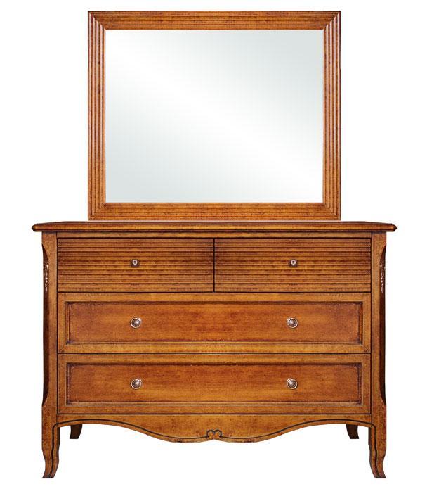 Commode en bois massif avec miroir - LaMaisonPlus