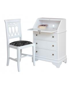petit meuble à abattant, bureau et chaise assortie