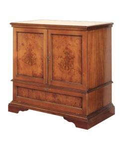 petit meuble, close tv marqueté, meuble tv, ameublement classique, ameublement pour le salon, petit meuble en bois, meuble pour le salon