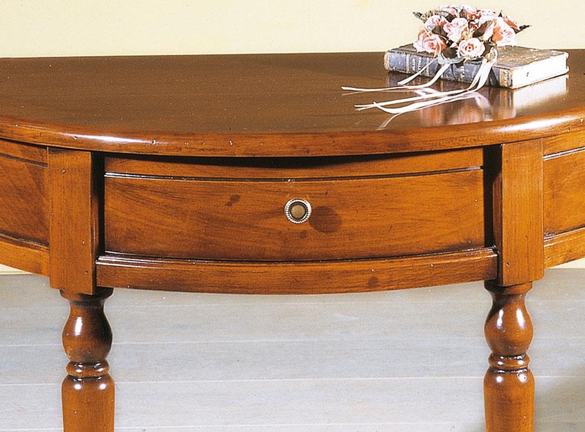 console demi lune 1 tiroir lamaisonplus. Black Bedroom Furniture Sets. Home Design Ideas