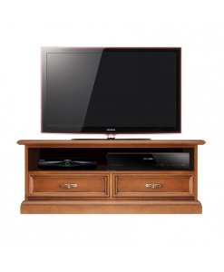 Meuble tv barre de son 2 tiroirs classique Arteferretto