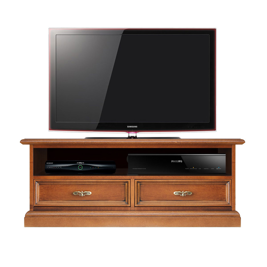 meuble tv barre de son 2 tiroirs classique ebay. Black Bedroom Furniture Sets. Home Design Ideas