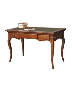 Bureau classique stylisé, bureau avec cuir, bureau de style, bureau fonctionnel