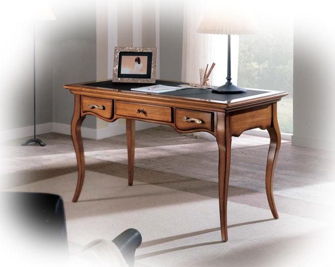 bureau classique stylis 3 tiroirs lamaisonplus. Black Bedroom Furniture Sets. Home Design Ideas