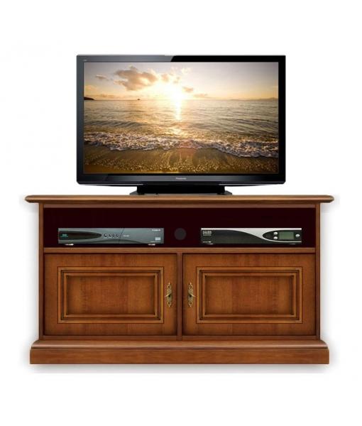 meuble tv barre de son 2 portes lamaisonplus. Black Bedroom Furniture Sets. Home Design Ideas