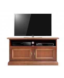 Meuble tv 2 portes pour la barre de son lamaisonplus - Meuble tv barre de son integree ...