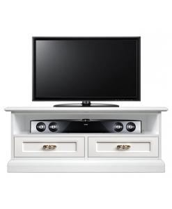 Meuble tv barre de son 2 tiroirs Arteferretto